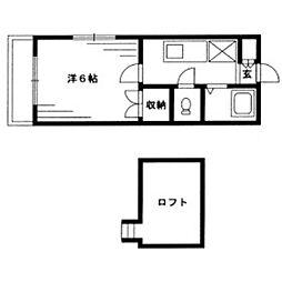 グリーンハイツ別府[1階]の間取り