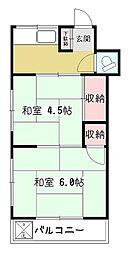 国吉荘[2階]の間取り