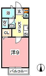 フラッツァ水江 C[101号室]の間取り
