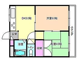 良野マンション[1階]の間取り
