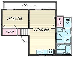 麻生コーポII[201号室]の間取り