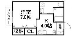 みのり II[1F号室]の間取り