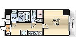 セントラル堺[7階]の間取り
