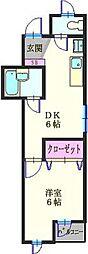 ブランヴェール横濱[301号室]の間取り