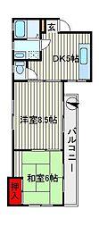 サンモールシャトレー[1階]の間取り