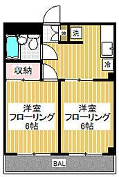 スティングレイ下井草[402号室]の間取り