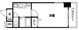 福岡県福岡市博多区博多駅東3丁目の賃貸マンションの間取り