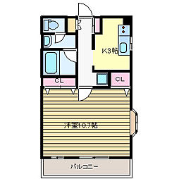 鈴木マンション[1階]の間取り