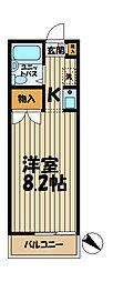 神奈川県横浜市栄区笠間3丁目の賃貸アパートの間取り