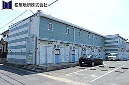 愛知県豊川市御油町行力の賃貸アパートの外観