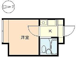 ウィンベル新宿百人町[203号室]の間取り