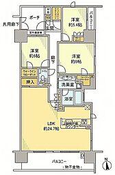 東京都多摩市鶴牧3丁目の賃貸マンションの間取り