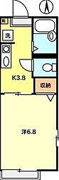 カーサケイ(東)[201号室]の間取り