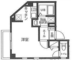 東京メトロ銀座線 浅草駅 徒歩15分の賃貸マンション 2階1Kの間取り