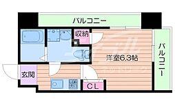 Osaka Metro谷町線 千林大宮駅 徒歩1分の賃貸マンション 4階1Kの間取り