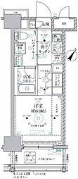 ベルグレード川崎AZ 9階1Kの間取り