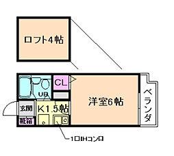 ZONE1/F PARTII[404号室]の間取り