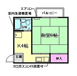 兵庫県川西市南花屋敷3丁目の賃貸マンションの間取り