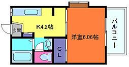 メゾン・ド・新神戸[2階]の間取り