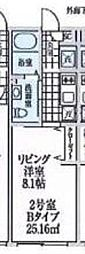 ALERO東高円寺 1階1Kの間取り
