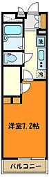 JR中央線 西八王子駅 徒歩23分の賃貸マンション 1階1Kの間取り