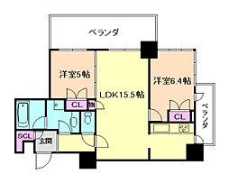 アデニウムタワー梅田イーストスクエア[8階]の間取り