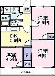 アメニティ東香里[3階]の間取り