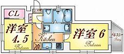 品川第6マンション[5階]の間取り
