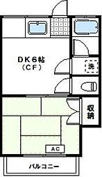 神奈川県川崎市高津区久地1丁目の賃貸アパートの間取り