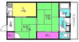 聖寿荘[201号室]の間取り