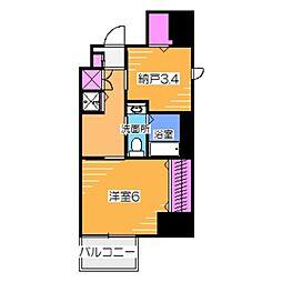 阪堺電気軌道阪堺線 妙国寺前駅 徒歩1分の賃貸マンション 7階1SKの間取り