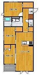 仮)野芥4丁目新築オートロック付アパート[104号室]の間取り