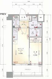 JR鹿児島本線 箱崎駅 徒歩3分の賃貸マンション 3階1DKの間取り