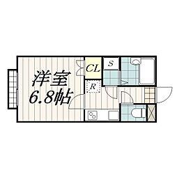 千葉県千葉市花見川区朝日ケ丘4の賃貸アパートの間取り