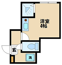 avancer成城 1階ワンルームの間取り