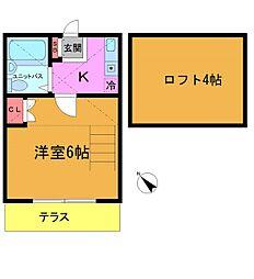マインツインメル宮久保No.2[203号室]の間取り