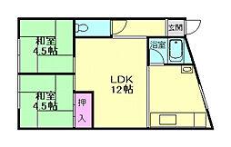 [一戸建] 大阪府池田市旭丘1丁目 の賃貸【/】の間取り