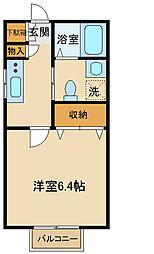 小田急小田原線 百合ヶ丘駅 徒歩6分の賃貸アパート 1階1Kの間取り