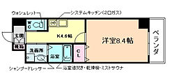 大阪府大阪市福島区福島6丁目の賃貸マンションの間取り
