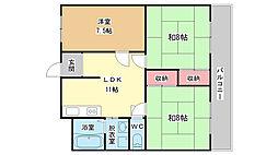ハイム城山2[2階]の間取り