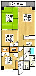 シーサイドヒルズ桜[A202号室]の間取り