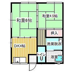山田アパート[101号室]の間取り