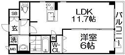 (仮称)枚方伊加賀東町PJ 2階1LDKの間取り