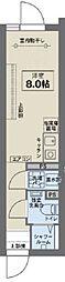 JR中央線 阿佐ヶ谷駅 徒歩6分の賃貸マンション 3階ワンルームの間取り