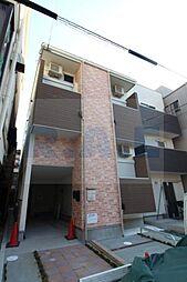 大阪府大阪市東住吉区田辺3丁目の賃貸アパートの外観