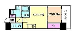 セレニテ福島calme[8階]の間取り