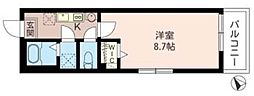 埼玉県所沢市上新井1丁目の賃貸アパートの間取り