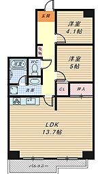 フェリーチェ和泉[3階]の間取り