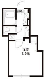パークアレイ笹塚 1階1Kの間取り