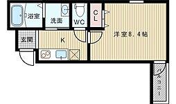 フジパレス東淀川3番館[3階]の間取り